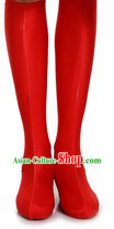Traditional Red Chinese Mongolian Boots Covers