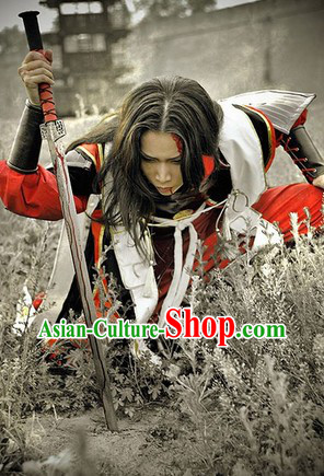 Ancient China Swordsman Costumes Complete Set for Men