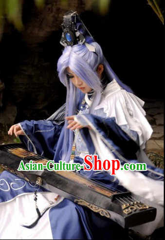 Ancient Style Chinese Cosplay  Clothing, Shoes & Accessories for Men
