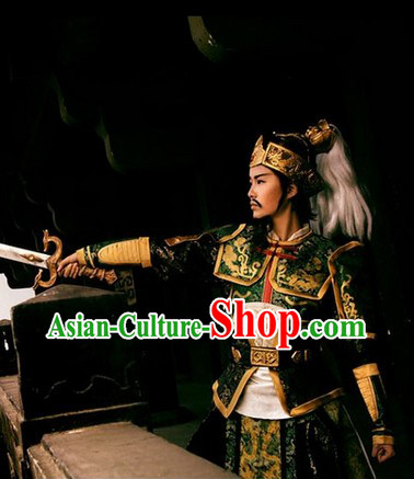 Hanmade Custom Made Ancient Chinese General Costume Complete Set for Men