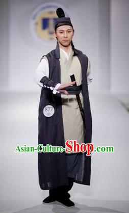 Traditional Chinese Swordman Hero Costumes Complete Set for Men