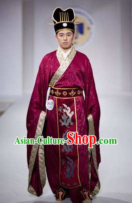 Chinese Imperial Dressing and Hat Complete Set for Men