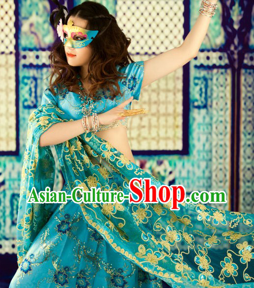 Asian Indian Princess Costumes Complete Set