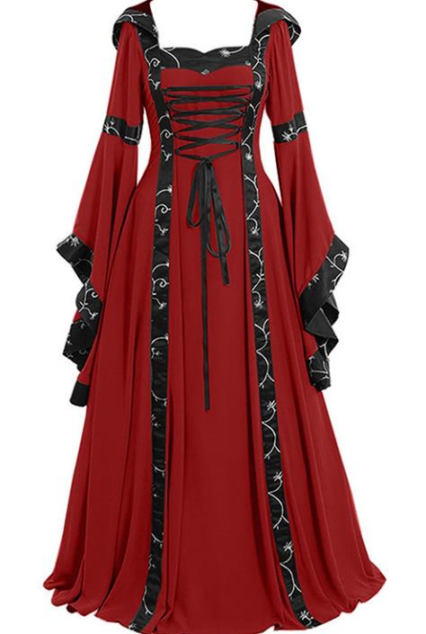 Custom-made Red Long Embroidered Cersei Lannister Costumes of Game of Thrones