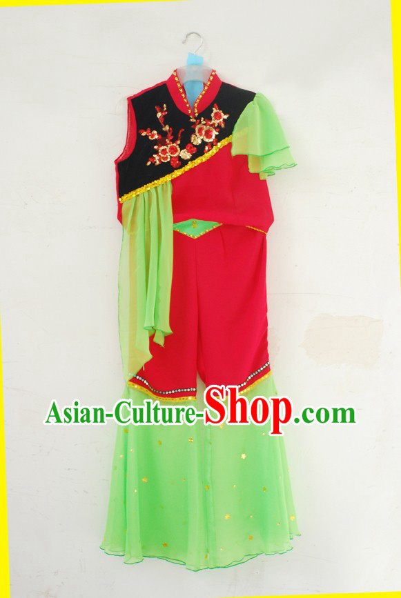 Traditional Mandarin Fan Dance Costumes for Women