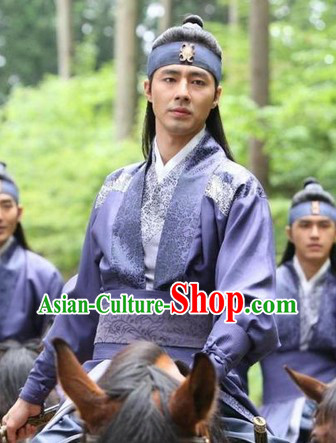 Ancient Korean Imperial Palace Guard Costumes Complete Set for Men