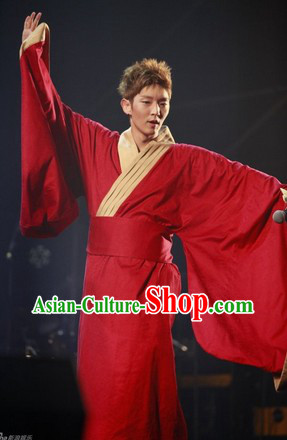 Lee Jun Ki Ancient Hanfu Clothing Complete Set for Men