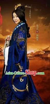 Han Dynasty Empress Hanfu Clothes and Hair Accessories Complete Set