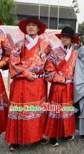 Ancient Chinese Archer Costumes and Hat for Men