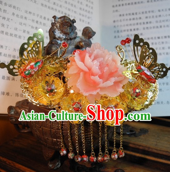 Traditional Chinese Hair Accessories for Weddings and Formal Occasions