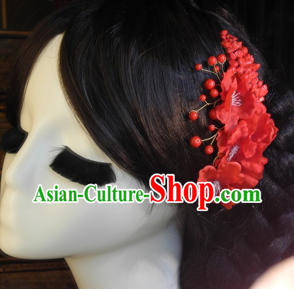 Traditional Chinese Red Hair Adornments
