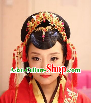 Traditional Chinese Hair Accessories Phoenix Coronet for Weddings and Formal Occasions