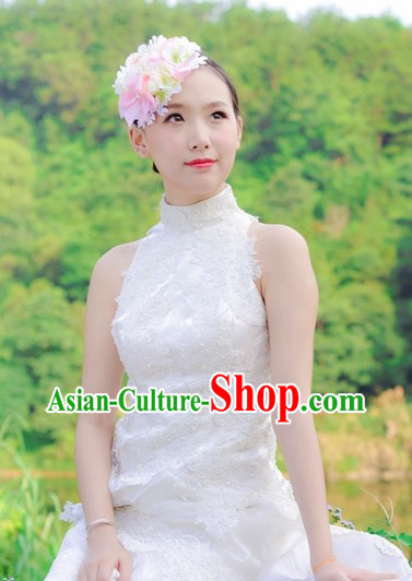 Traditional Chinese Romantic Flower Wedding Hair Accessories Hair Pins