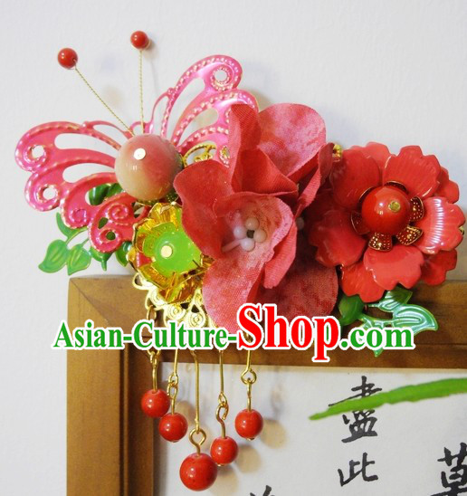 Traditional Chinese Handmade Hair Clips Wedding