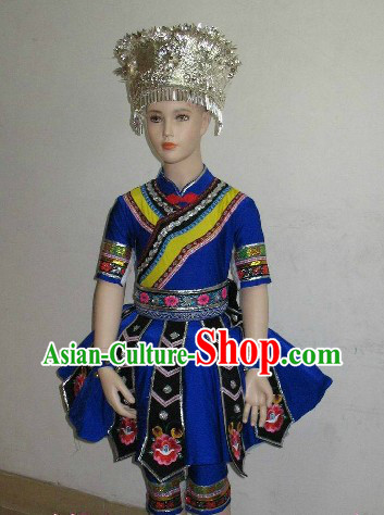Traditional Chinese Miao Dance Costumes Complete Set