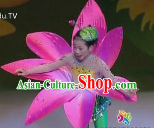 Traditional Chinese Flower Dance Costumes Complete Set