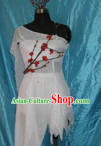 Traditional Chinese Plum Blossom Dance Costumes Complete Set