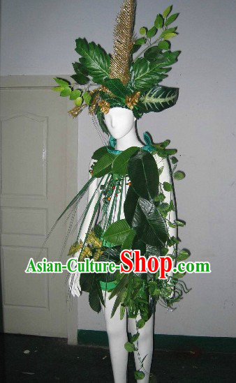 Forest Fairy Model Costumes and Headdress Complete Set