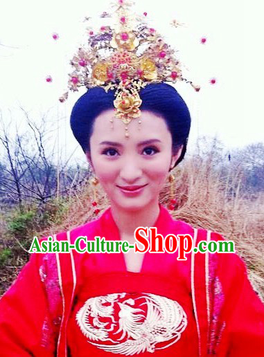 Traditional Chinese Wedding Headdress and Necklace Set