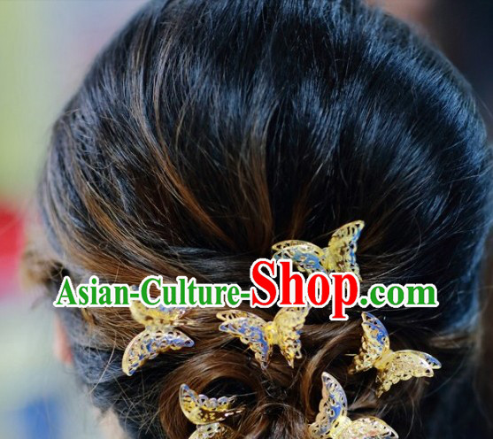 Traditional Chinese Six Butterfly Hairpins Set