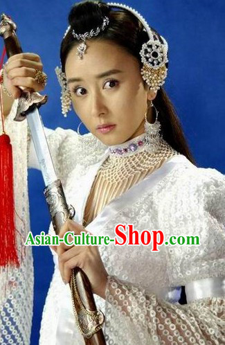 Traditional Ancient Chinese Princess Headdress Set