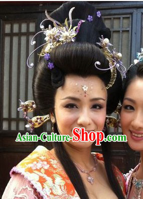 Traditional Chinese Grandmother Phoenix Accessories and Earrings Complete Set