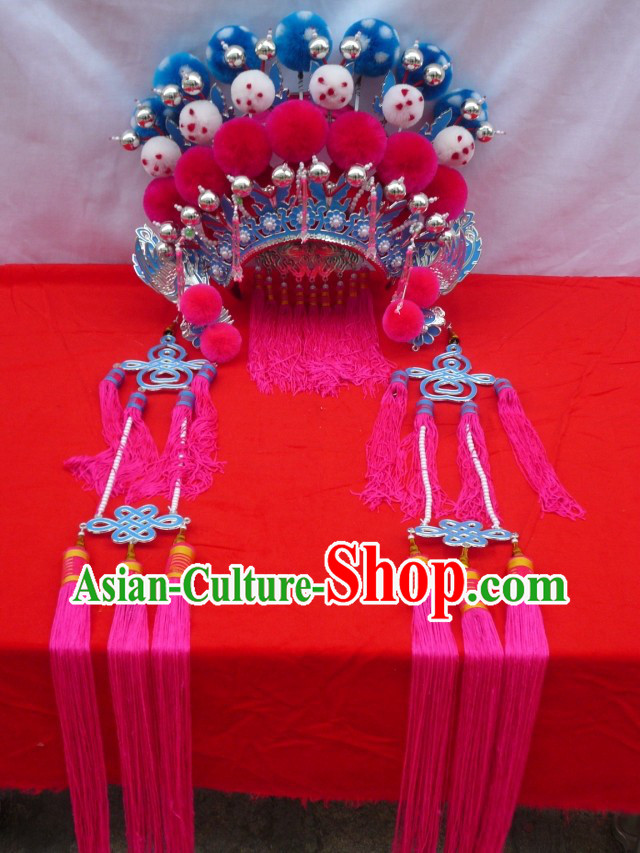 Traditional Chinese Opera Mu Guiying Female General Helmet