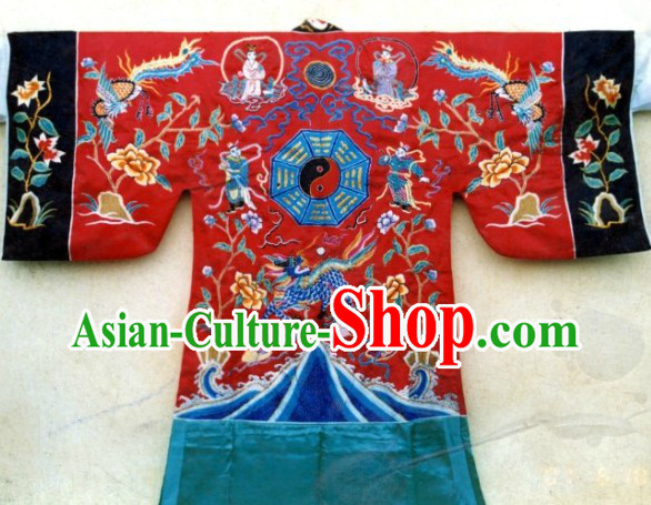 Traditional Chinese Taoist Bagua Eight Symbols Costumes Complete Set
