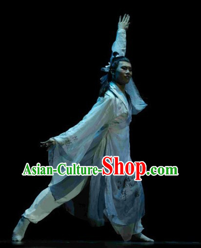 China Classical Dancing Costume Complete Set for Men