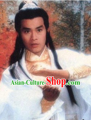 Ancient Traditional Long Chinese Male Swordman Wig