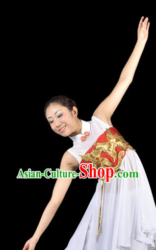 Chinese Phoenix Modern Dance Costumes Complete Set for Women