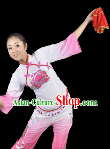 Fan Dance Costume and Headdress Complete Set for Women