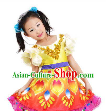 Asian Festival Celebration Dance Costumes for Children