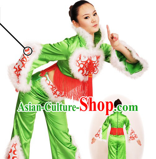 Chinese Festival Celebration Dance Costumes and Headdress Complete Set for Women