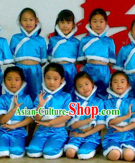 High Collar Mandarin Dance Costumes for Kids