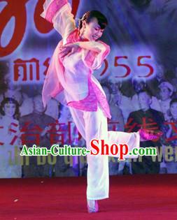 Mandarin Pure Silk Dance Costumes for Women