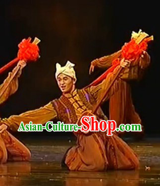 Stage Performance Farmer Costumes and Headdress for Men