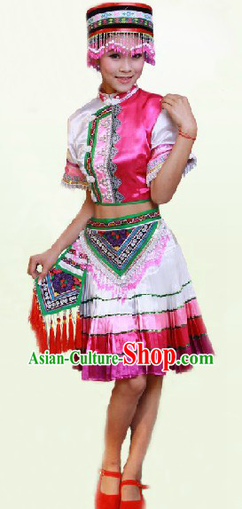 China Ethnic Clothing and Hat Complete Set for Women