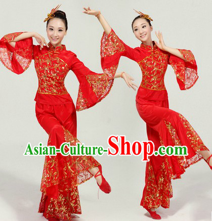 Red New Year Dance Costume for Women