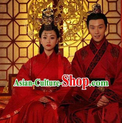 Ancient Chinese Wedding Dresses for Men and Women