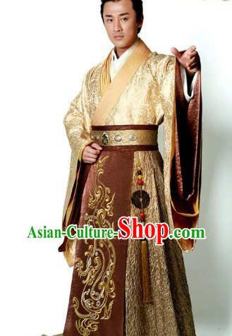 Ancient Chinese Emperor Hanfu Robe for Men