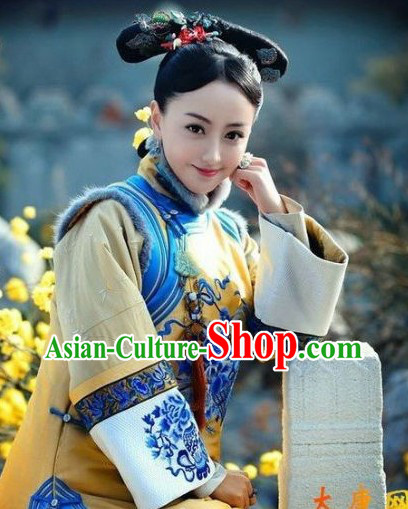 Qing Dynasty Imperial Palace Concubine Outfit for Women