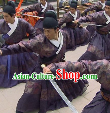 Ming Dynasty Government Official Flying Fish Feiyu Uniform and Hat for Men