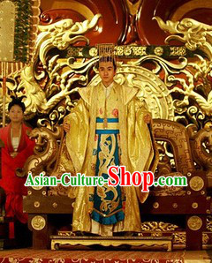 Ancient Chinese Emperor Costume and Hat for Men