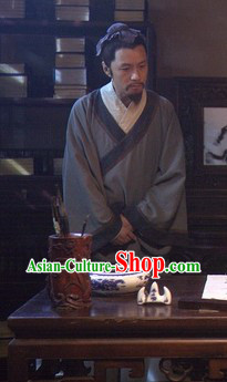 Ancient Chinese Civilian Costumes and Headwear for Men