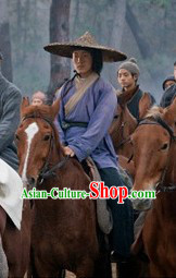 Chu Han Legend Ancient Chinese Hanfu and Bamboo Hat for Men