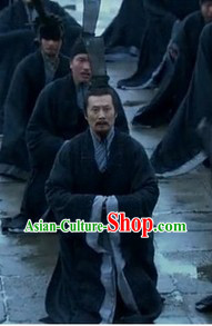 Han Dynasty China Government Official Hanfu Clothing and Coronet for Men