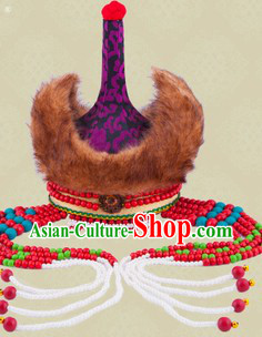 Ancient Chinese Mongolian Princess Hat for Children Girls