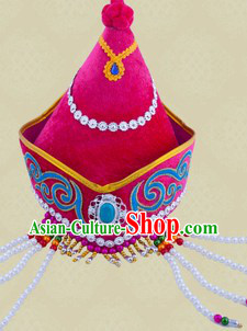 Traditional Chinese Dance Ethnic Mongolian Hat