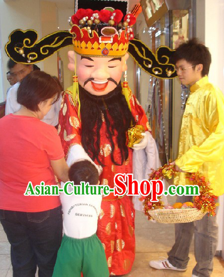 Traditional Chinese Cai Shen Ye Mascot